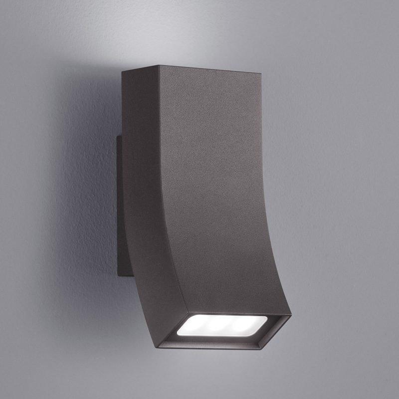 LED-seinävalaisin Oka 80x90x170 mm ylös/alas antrasiitti