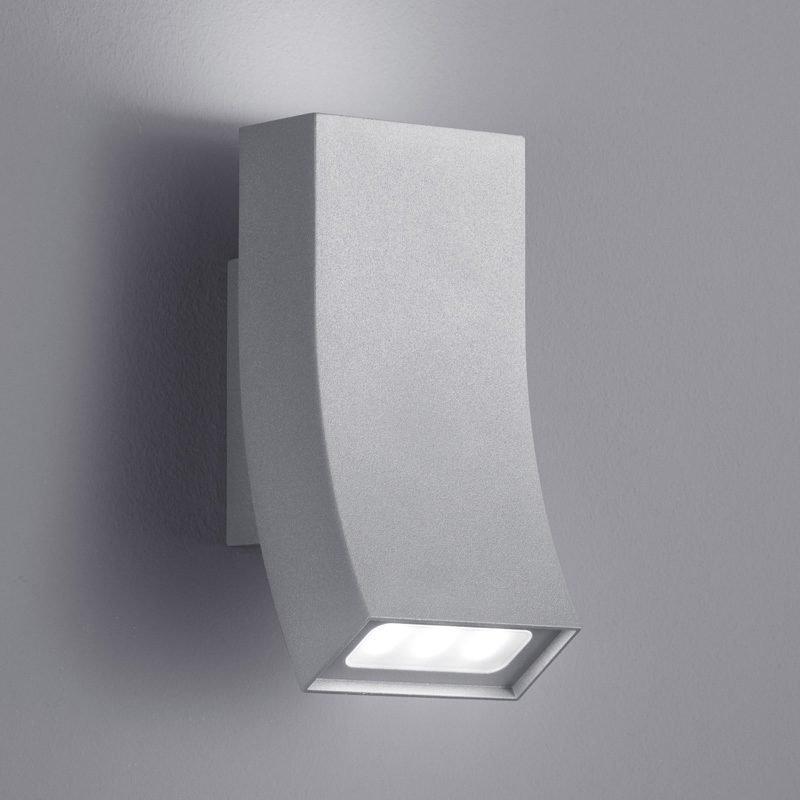 LED-seinävalaisin Oka 80x90x170 mm ylös/alas titaani