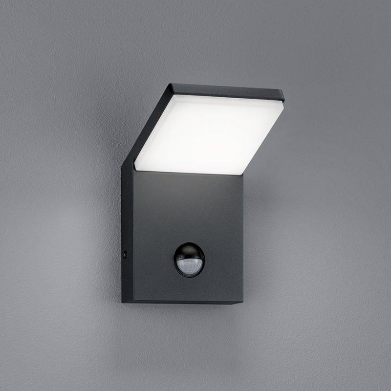 LED-seinävalaisin Pearl 100x105x160 mm antrasiitti liiketunnistimella