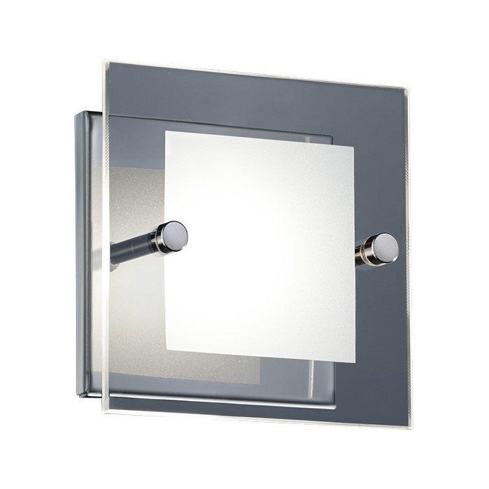 LED-seinävalaisin Piazza 120x120x80 mm kromi