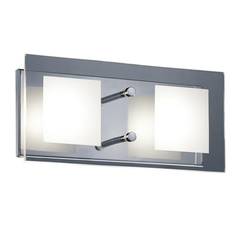 LED-seinävalaisin Piazza 260x120x80 mm kromi