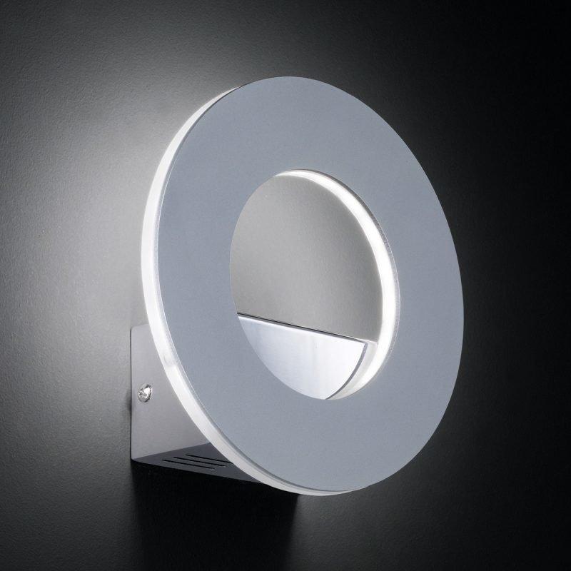 LED-seinävalaisin Ring 180x66x180 mm harjattu alumiini