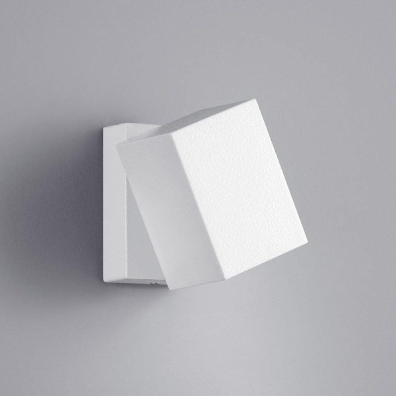 LED-seinävalaisin Tiber 70x100x100 mm suunnattava valkoinen