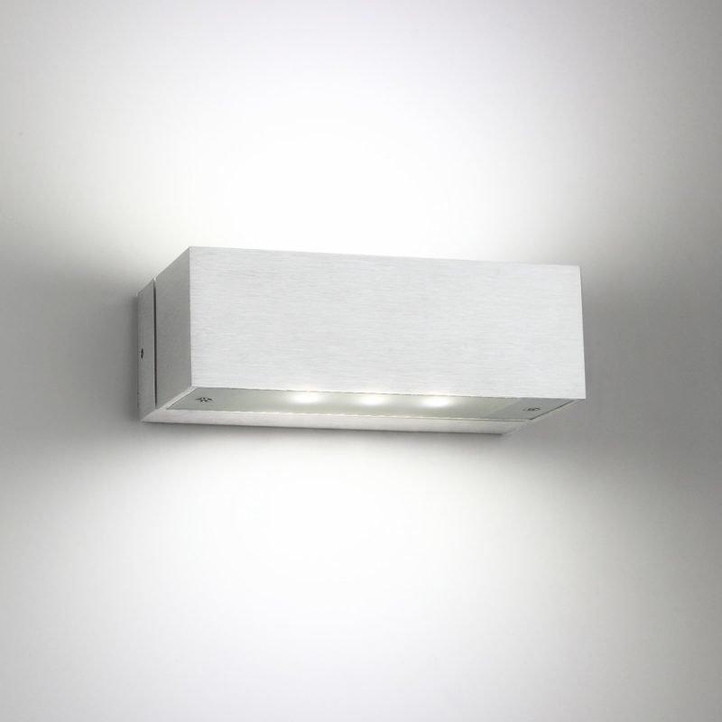 LED-seinävalaisin Wall Angular 2 2x3W 3000K 2x200lm IP44 150x80x50 mm kaksisuuntainen