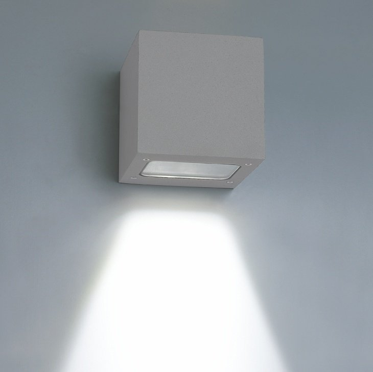LED-seinävalaisin Wall Out Cubic 3W 3000K 200lm IP55 100x120x100 mm yksisuuntainen harmaa