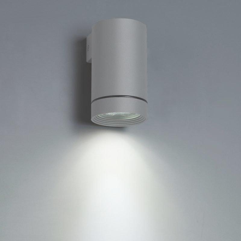 LED-seinävalaisin Wall Out Round 3W 3000K 180lm IP55 60x110x120 mm yksisuuntainen harmaa