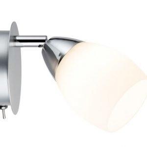 LED-seinävalaisin Wolba Ø 85x105 mm mattakromi