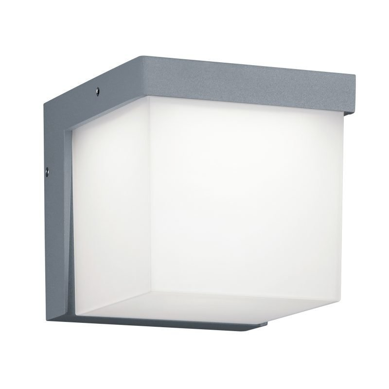 LED-seinävalaisin Yangtze 117x139x117 mm titaani