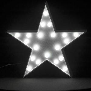 LED sisustusvalaisin STAR valkoinen