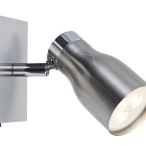 LED-spottivalaisin Meli 100x100x160 mm harjattu teräs