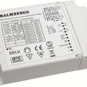 LED vakiovirtalähde himmennettävä MULTI 50W 350/700mA