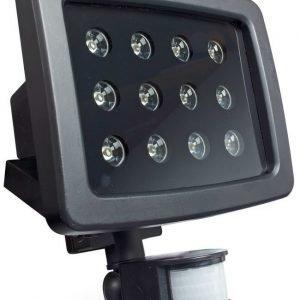LED-valaisin liiketunnistimella Bright Solar IP54 12X1W 6400K 900lm