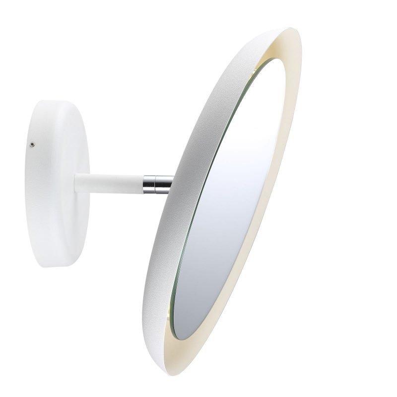 LED-valaisinpeili IP S10 Ø 300x170 mm suurentava valkoinen