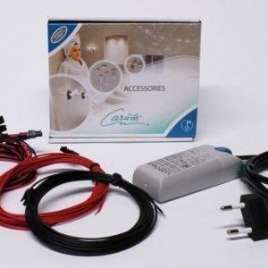 LED-valaisinsarja Kristalli Kit 9 kylmä kromi + muuntaja