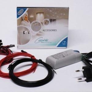 LED-valaisinsarja Kristalli Kit 9 kylmä kulta + muuntaja