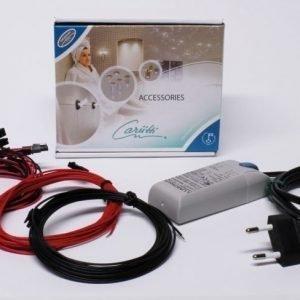 LED-valaisinsarja Kristalli Kit 9 lämmin kromi + muuntaja