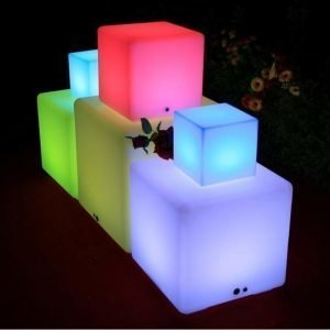 LED-valokuutio LED Box 40 3W 150lm IP65 400x400x400 mm RGB+valkoinen