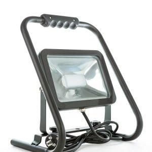 LED valonheitin CSPOT 30W BLACK + jalustalla