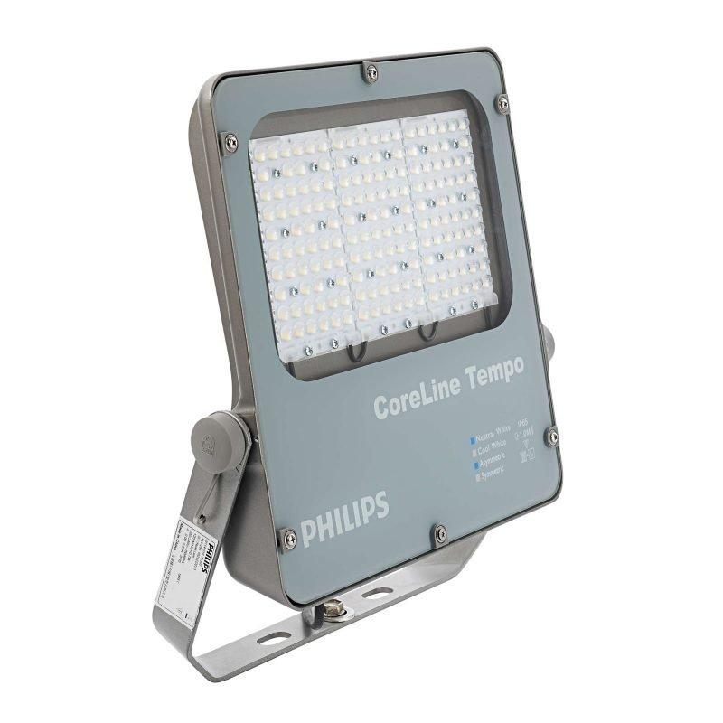 LED-valonheitin CoreLine Tempo BVP120 80W 8000lm 4000K IP65 410x63x454 mm harmaa