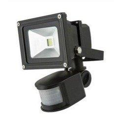LED valonheitin WORK BLACK 10W 4500K liiketunnistimella
