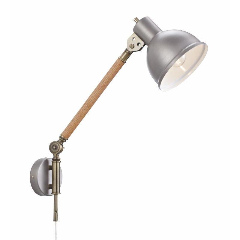 Lamp Gustaf Seinävalaisin Archimedes 160x470x480 mm tammi/alumiini