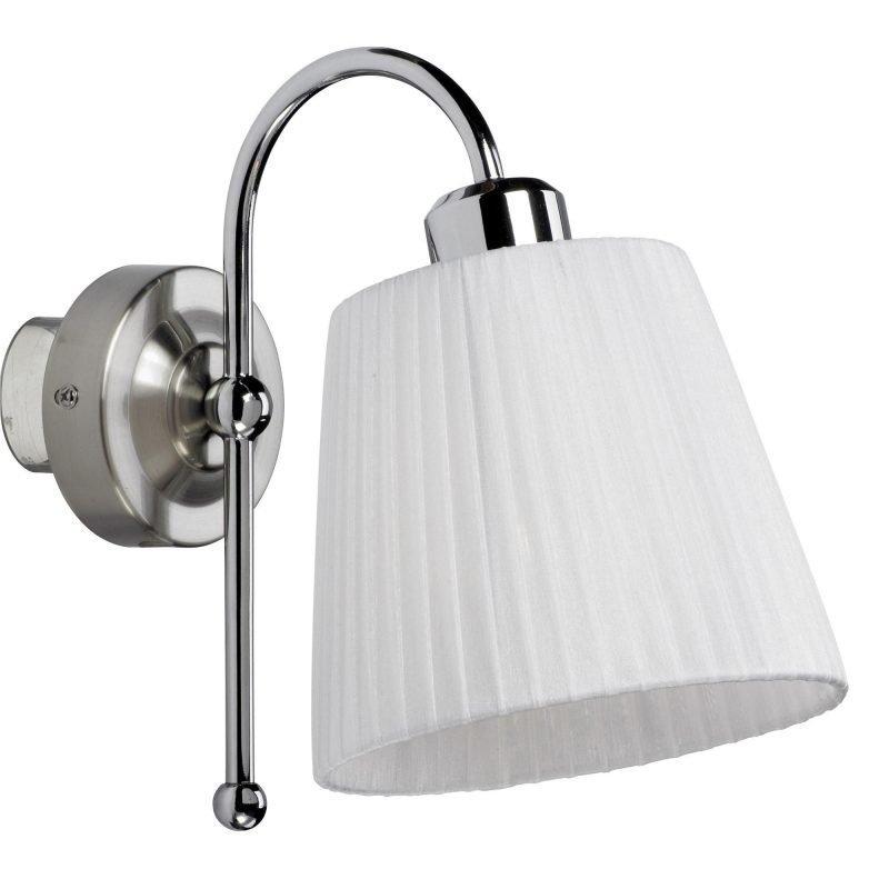 LampGustaf Seinävalaisin Atlanta 160x270x240 mm valkoinen/kromi