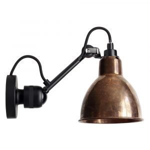 Lampe Gras 304 Seinävalaisin Musta / Raaka Kupari / Valkoinen