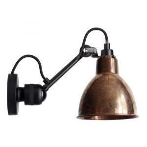 Lampe Gras 304sw Seinävalaisin Musta / Raaka Kupari