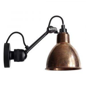 Lampe Gras 304sw Seinävalaisin Musta / Raaka Kupari / Valkoinen