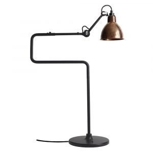 Lampe Gras 317 Pöytävalaisin Musta / Raaka Kupari / Valkoinen