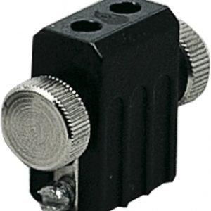 Lamppukannatin G4 12V 35W musta vaijerijärjestelmään