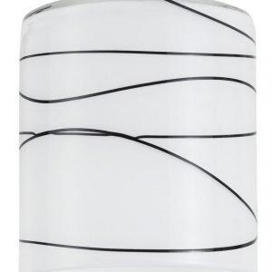 Lasikupu DecoSystems Zyli Ø 70x80 mm opaali/musta