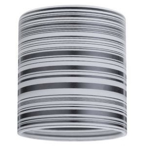 Lasikupu DecoSystems Zyli Ø 70x80 mm valkoinen/musta
