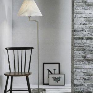 Lattiavalaisin Break Ø 440x1580 mm valkoinen/harjattu teräs