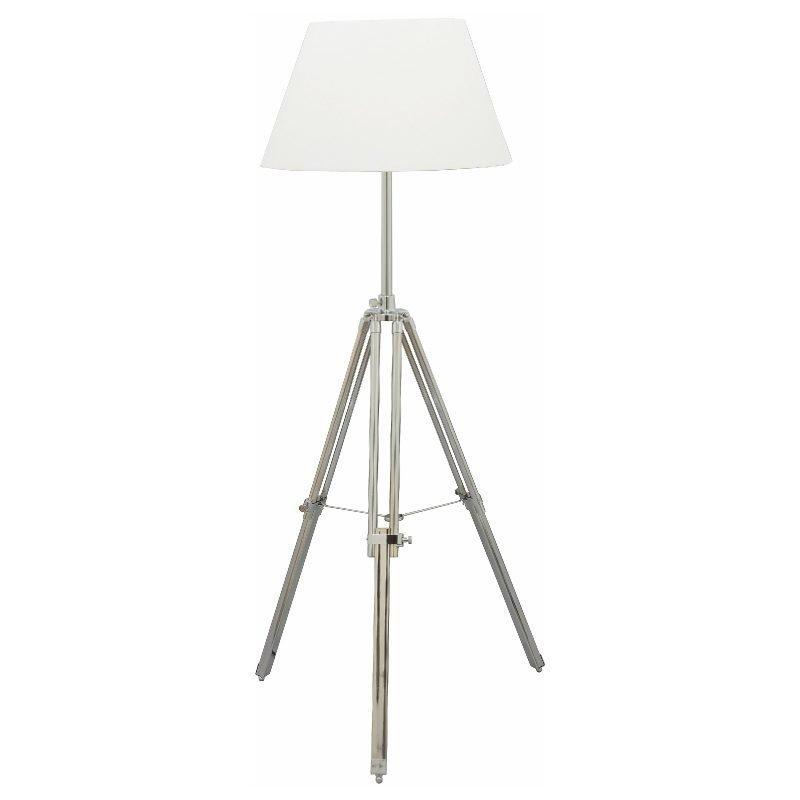 Lattiavalaisin Karolin Ø 500x1450 mm kromi/valkoinen
