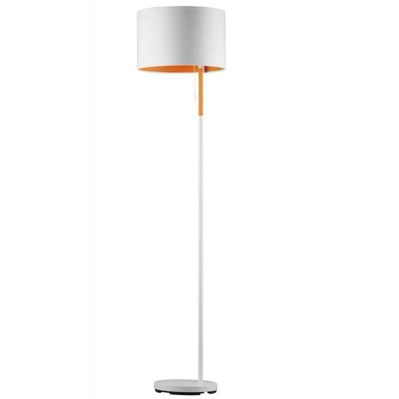 Lattiavalaisin Landor Ø 350x1500 mm valkoinen/oranssi