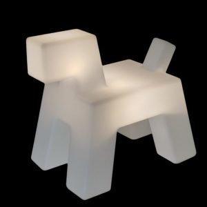 Lattiavalaisin Wuff valkoinen