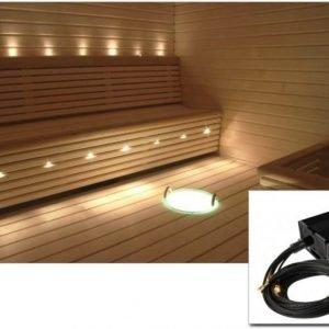 Laudekuituvalaistussarja Cariitti VPL30-G211 LED-projektori ja 10+1 valokuitua