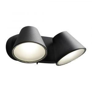 Light-Point Cup 2 Wall Lamp 2x4w Led 230v Black Seinävalaisin