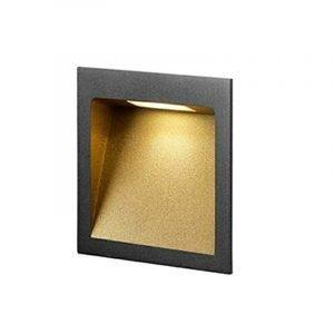 Light-Point Deli 2 Seinävalaisin Musta / Kulta