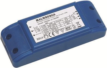 Liitäntälaite LED-Multidriver MB 115x45x28 mm 20W 60V 350mA himmennettävä