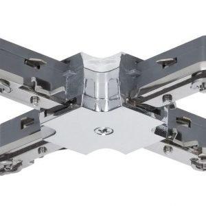 Liitin X-haara URail X-Connector 36x36 mm kromi