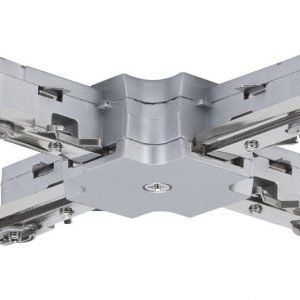Liitin X-haara URail X-Connector 36x36 mm mattakromi