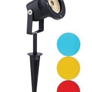 Maapiikkivalaisin Spot Deluxe LED Multicolour Ø 95x340 mm musta 12V