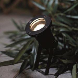 Maapiikkivalaisin Spotlight Ø 100x400 mm musta