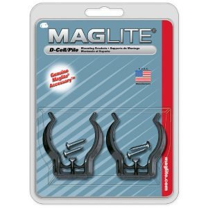 Maglite D Seinäkiinnike Pari Sisältää Kiinnitysruuvit Musta