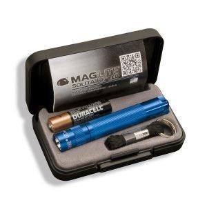 Maglite Solitaire Led Taskulamppu Lahjapakkaus Sininen