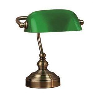 Markslöjd Bankers Pöytälamppu Vihreä 25 cm
