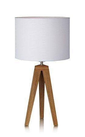 Markslöjd Kullen Pöytälamppu Tammi/Valkoinen 28 cm