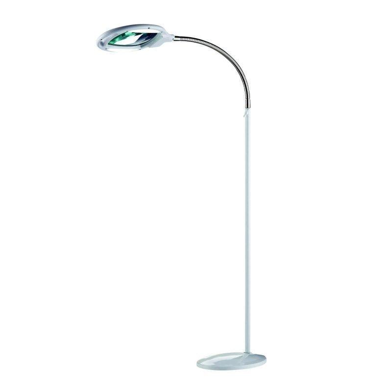 Markslöjd Lattiavalaisin Tampere 210x550x1350 mm LED suurennuslasilla valkoinen/teräs
